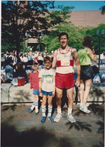 With my Dad at My first Red Rose Run